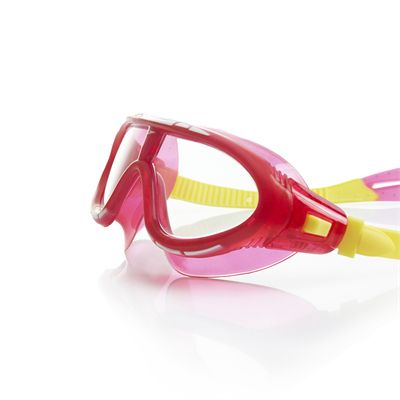 Speedo Rift Junior Swimming Goggles - Pink and Yellow Side View