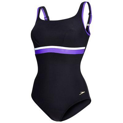 Speedo Sculpture Contour Ladies Swimsuit- Black/Purple