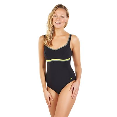 Speedo Sculpture Contourluxe 1 Piece Ladies Swimsuit AW17 - Black - Angled