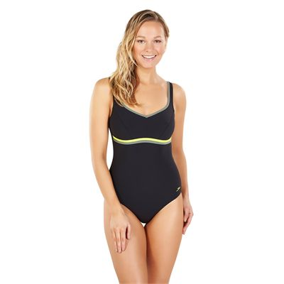 Speedo Sculpture Contourluxe 1 Piece Ladies Swimsuit AW17 - Black - Front