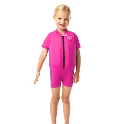 Speedo Sea Squad Girls Floatsuit-Front View
