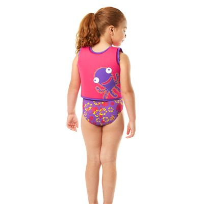 Speedo Sea Squad Girls Swimming Vest-Back View