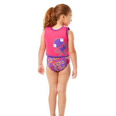 Speedo Sea Squad Girls Swimming Vest-Back View