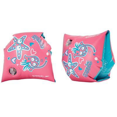 Speedo Sea Squad Arm Bands-Pink-Blue-Image