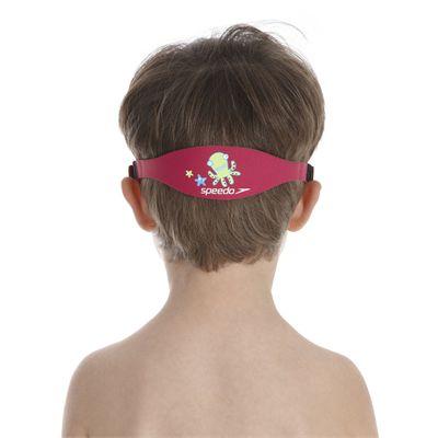 Speedo Sea Squad Junior Swimming Mask - Pink/Green - Back View