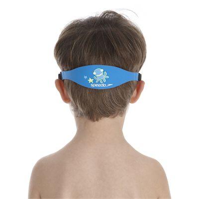 Speedo Sea Squad Junior Swimming Mask - Blue/Green - Back View