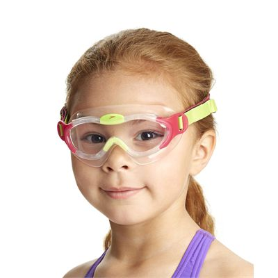 Speedo Sea Squad Junior Swimming Mask - Pink/Green