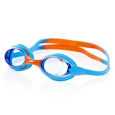 Speedo Monogram Muscleback Girls Swimsuit - Blue/Orange
