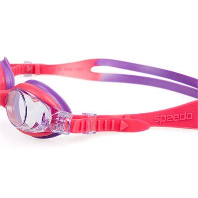 Speedo Sea Squad Skoogle Junior Swimming Goggles-Pink-Purple-Side