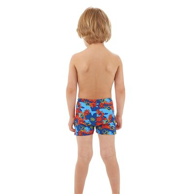Speedo Seasquad Allover Boys Aquashorts - Back View