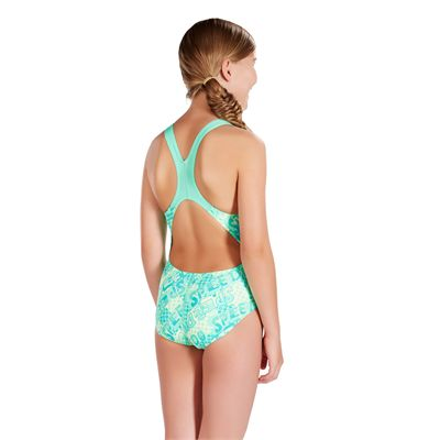 Speedo Space Rock Allover Splashback Girls Swimsuit - Back