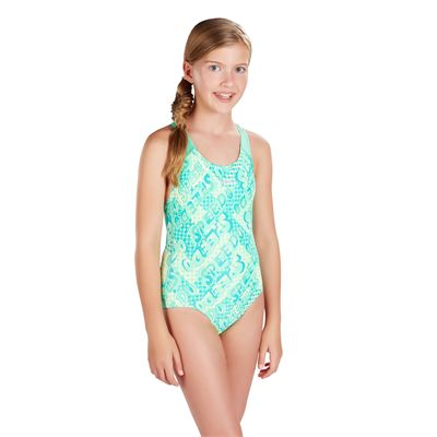 Speedo Space Rock Allover Splashback Girls Swimsuit - Side