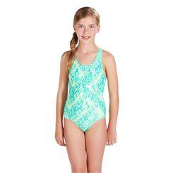 Speedo Space Rock Allover Splashback Girls Swimsuit