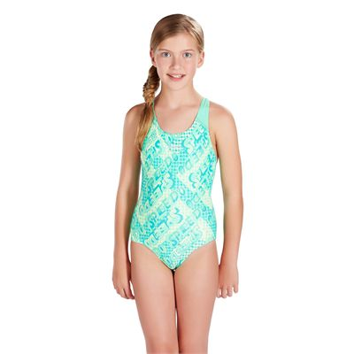 Speedo Space Rock Allover Splashback Girls Swimsuit