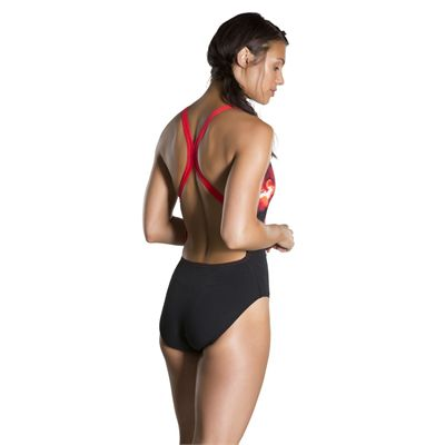 Speedo Spacedust Placement Digital Powerback Ladies Swimsuit - Back