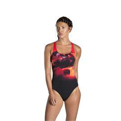 Speedo Spacedust Placement Digital Powerback Ladies Swimsuit