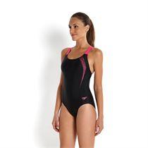 Speedo Sports Logo Medalist Ladies Swimsuit