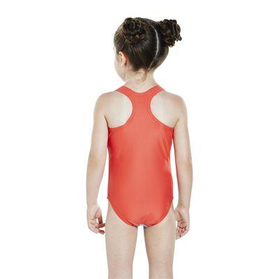Speedo Sunkissed Shine Applique 1 Piece Infant Girls Swimsuit - Back