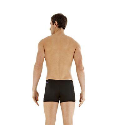 Speedo Superiority Mens Aquashort Black Blue Back