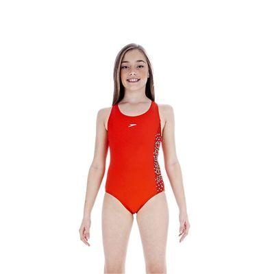 Speedo TideBreak Logo Splice Splashback Girls Swimsuit