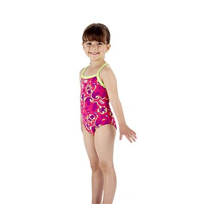 Speedo Titch 1 Piece Infant Girls Swimsuit Side