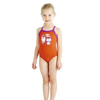 Speedo Tots Raintreat Thinstrap 1 Piece Girls Swimsuit
