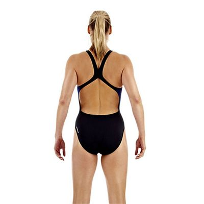 Speedo TurboDive Placement Powerback Ladies Swimsuit Back