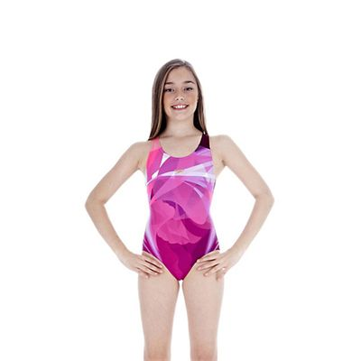 Speedo TurboForce Placement Splashback Girls Swimsuit