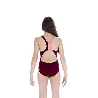 Speedo TurboForce Placement Splashback Girls Swimsuit back