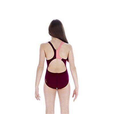 Speedo TurboForce Placement Splashback Girls Swimsuit back