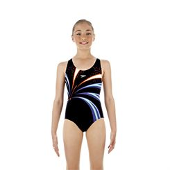 Speedo TurboSnap Placement Splashback Girls Swimsuit