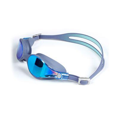 Speedo Virtue Mirror Ladies Swimming Goggles - Grey/Green - Side