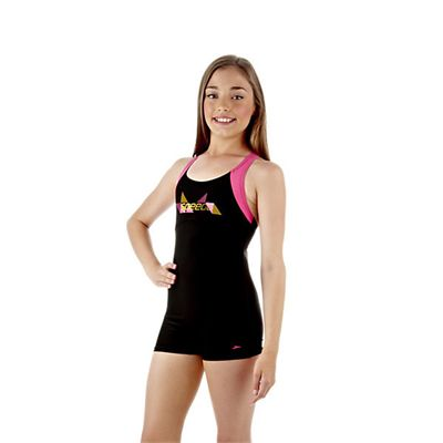 Speedo Wavespray Girls Legsuit Side