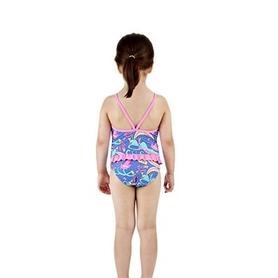 Speedo Wonderland Frill 1 Piece Infant Girls Swimsuit Back