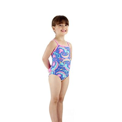 Speedo Wonderland Frill 1 Piece Infant Girls Swimsuit Side