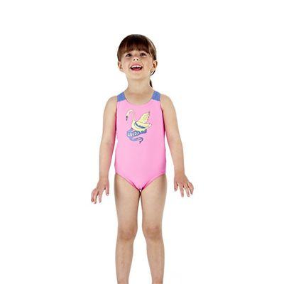 Speedo Wonderland Placement 1 Piece Infant Girls Swimsuit