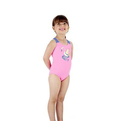 Speedo Wonderland Placement 1 Piece Infant Girls Swimsuit Side