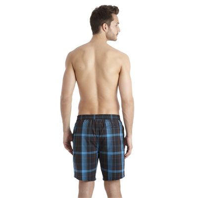 Speedo Yarn Dyed Check Leisure 18 Inch Mens Watershort SS13 Black Blue back
