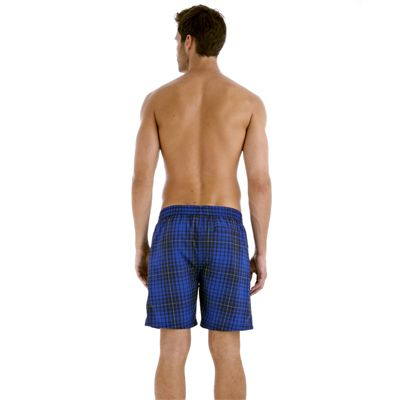 Speedo Yarn Dyed Check Leisure 18 Inch Mens Watershort SS13 Navy Blue Back