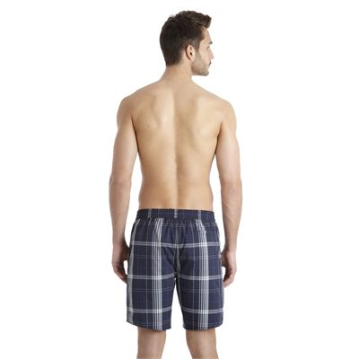 Speedo Yarn Dyed Check Leisure 18 Inch Mens Watershort SS13 Navy Grey Back