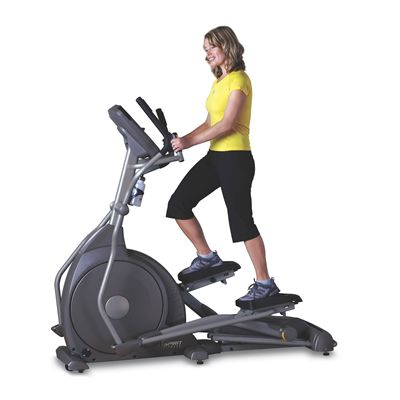 Spirit XE395 LC Incline Elliptical Trainer In Use
