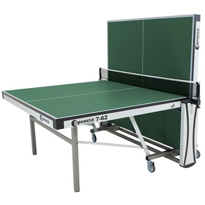 Sponeta Auto Compact ITTF Table Tennis Table-Green-Half Folded