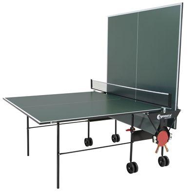 Sponeta Hobby Playback Indoor Table Tennis Table - Green/Playback