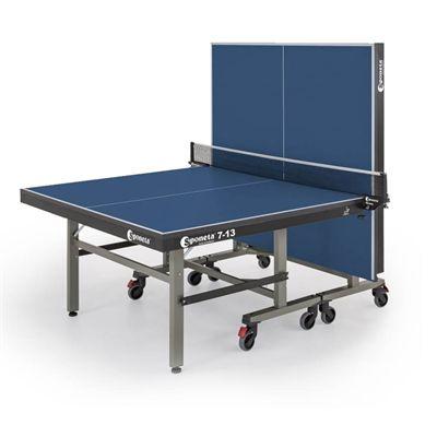 Sponeta Master Compact ITTF Indoor Table Tennis Table - Blue - Folded