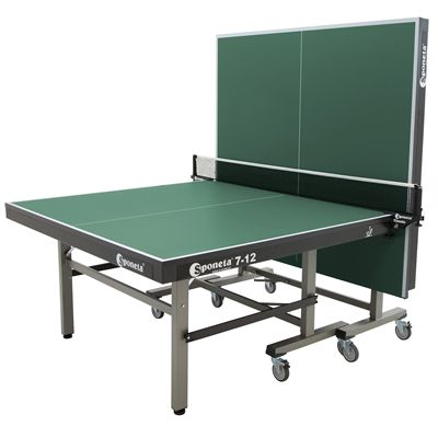 Sponeta Master Compact ITTF Table Tennis Table-Green-Half Folded