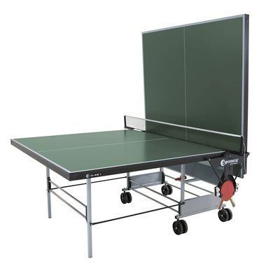 Sponeta Sportline Rollaway Indoor Table Tennis Table - Green - Playback