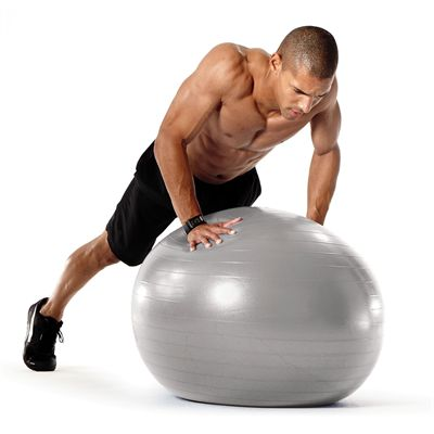Sportline 65cm Burst Resistant Gym Ball Exercise 2