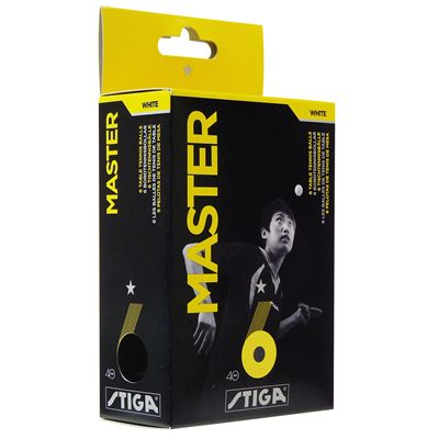 Stiga 1 Star Master Table Tennis Balls - Pack of 6