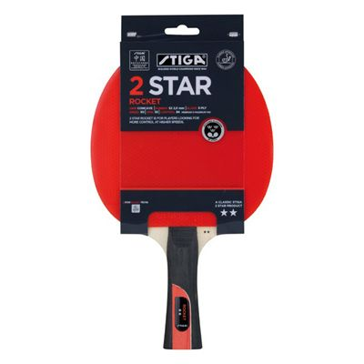 Stiga 2 Star Rocket Table Tennis Bat