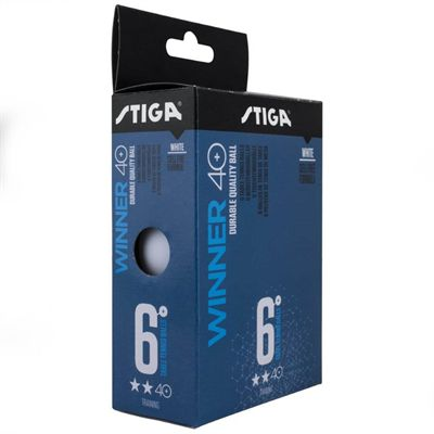 Stiga 2 Star Winner Table Tennis Balls - Pack of 6 (core)